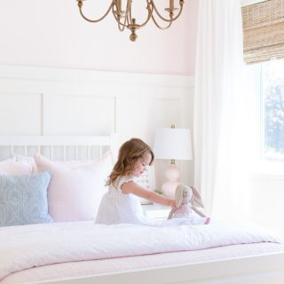 Sweet Pink and White Little Girl's Bedroom | Toddler Bedroom Reveal