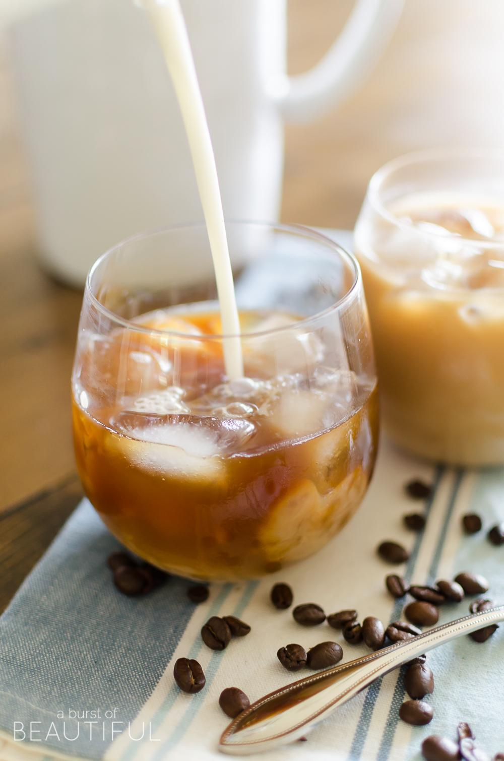 The Best Vanilla Hazelnut Iced Coffee