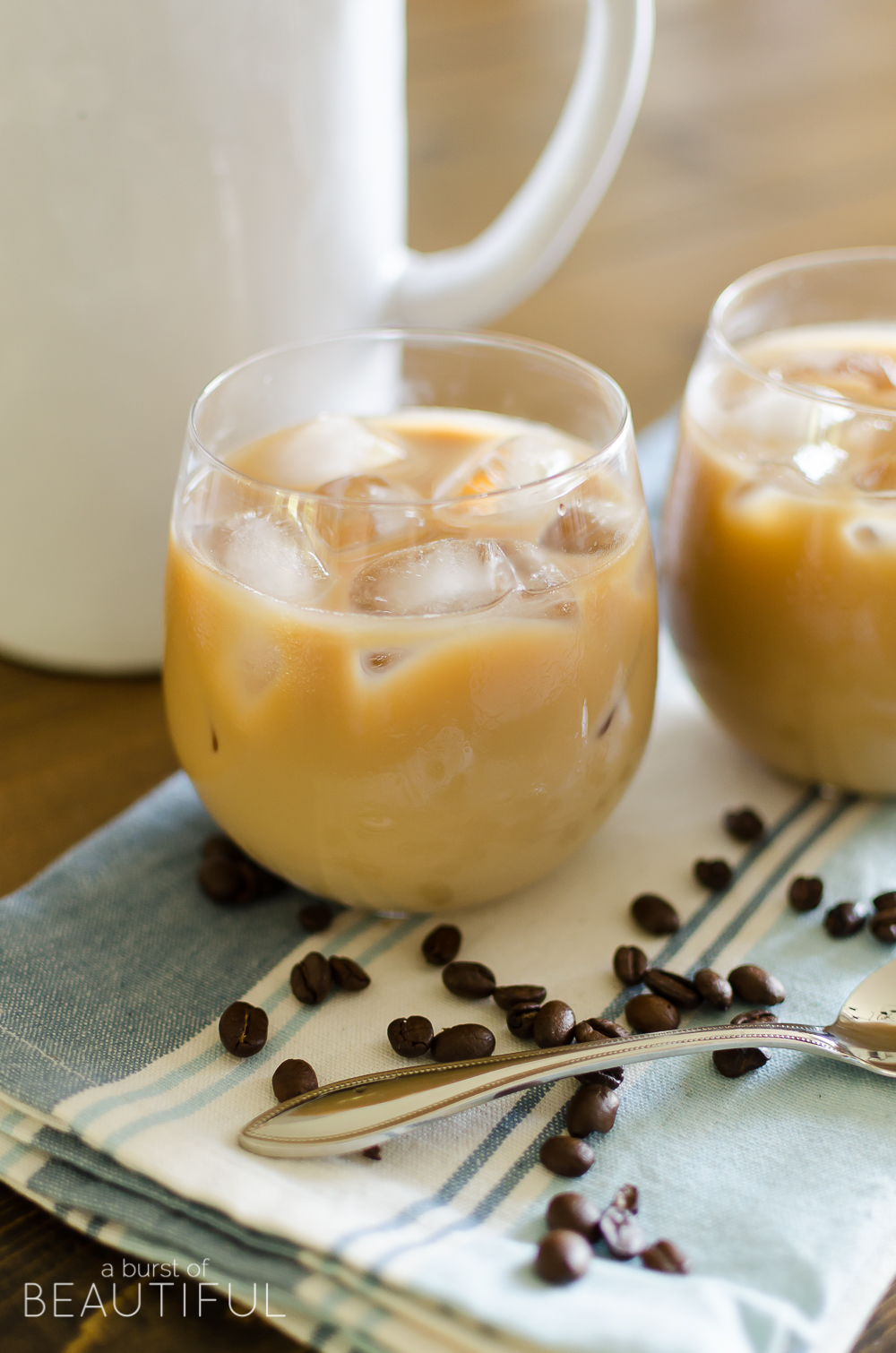 The Best Vanilla Hazelnut Iced Coffee