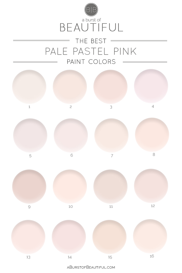 What Color Goes Good With Pink the best pale pink paint colors - a burst of beautiful