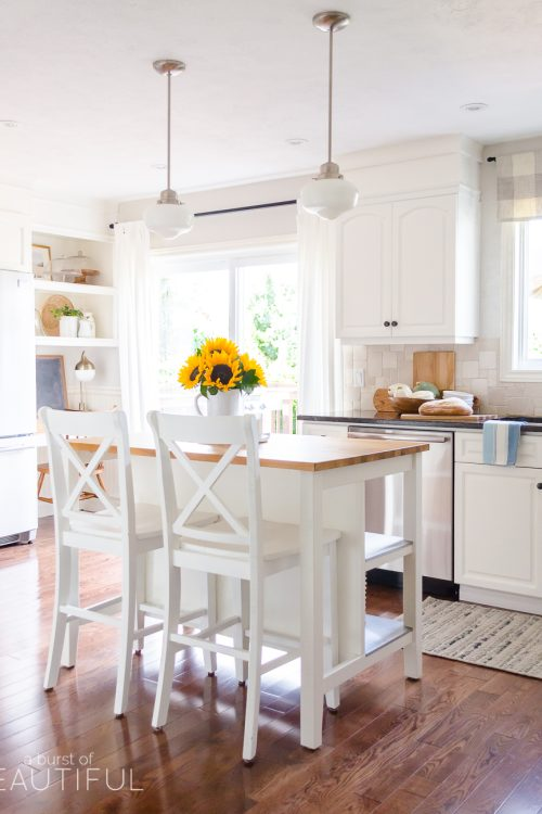 Simple Fall Touches in our Kitchen and Mudroom