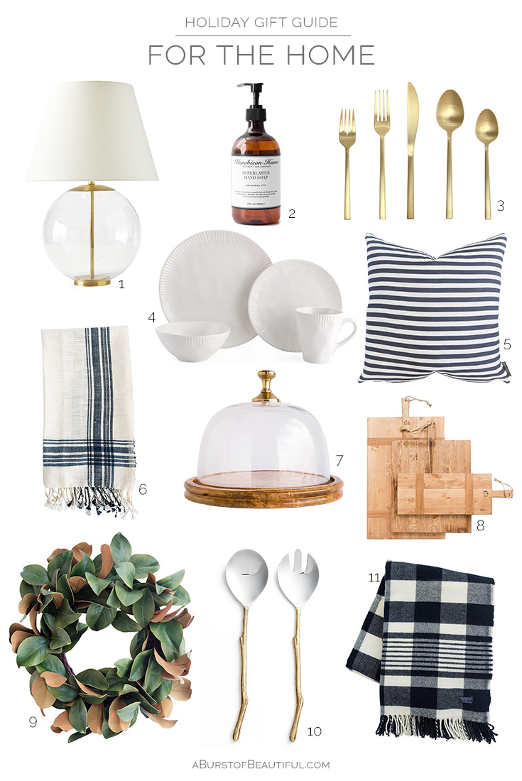 2017 Holiday Gift Guide | For the Home