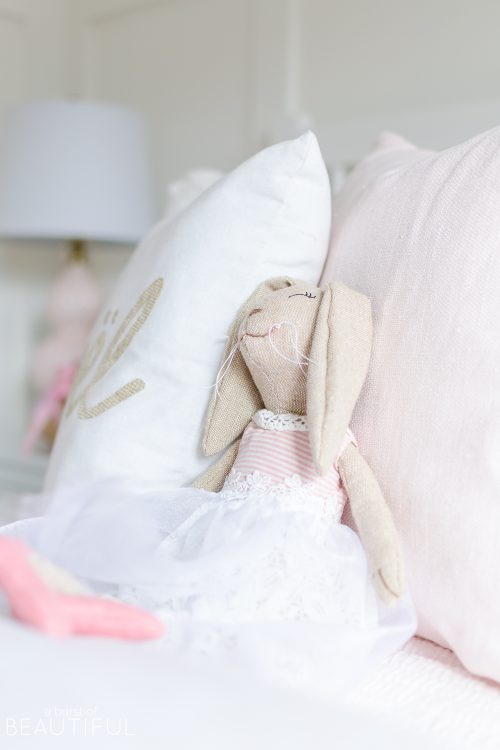 A Pink and White Christmas Bedroom
