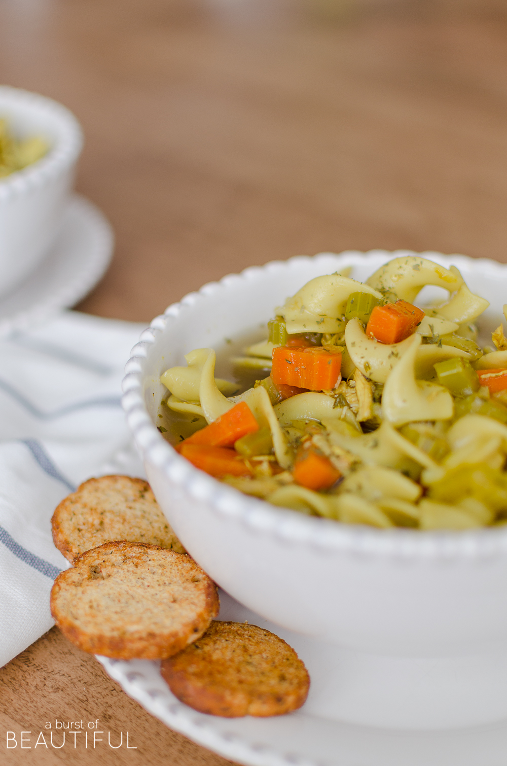 A quick and easy recipe for the best homemade chicken noodle soup.