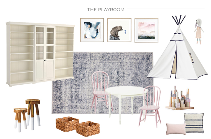 Design an open concept family room and playroom that creates a feeling of comfort and cohesion, while sparking creativity and imagination with these design ideas and inspiration