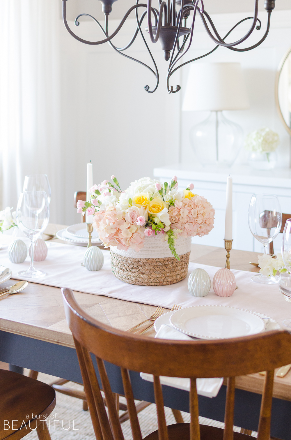 Colorful Easter Tablescape and Centerpiece Ideas - A Burst of Beautiful