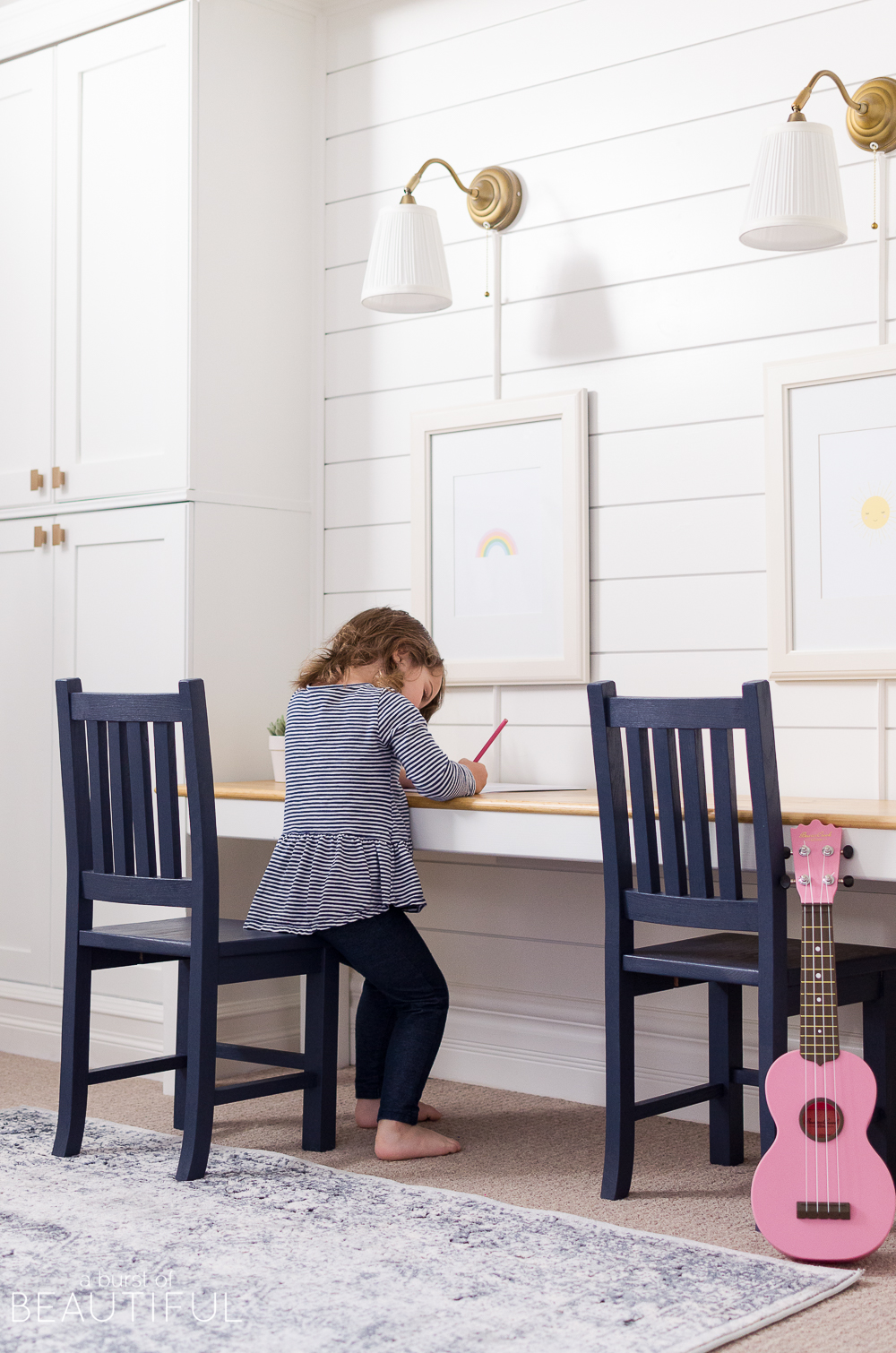 A simple kid-sized table is a perfect addition to any playroom or kid's space, providing a sweet space to color, play games or finish homework.  Build your own kid-sized table using these easy free plans.