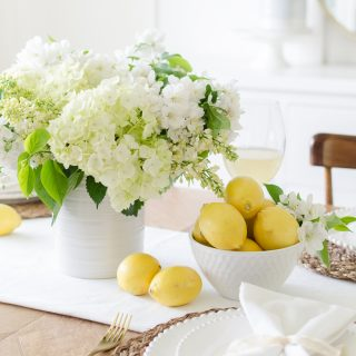 Cheerful White and Yellow Summer Tablescape