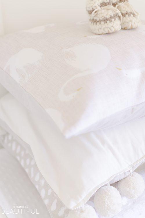 White and Cream Gender Neutral Nursery | Design Plan