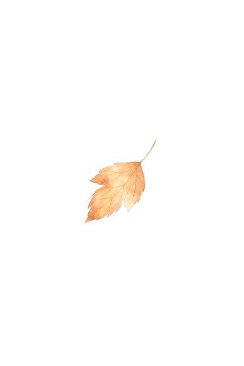 Watercolor Fall Leaf Printable