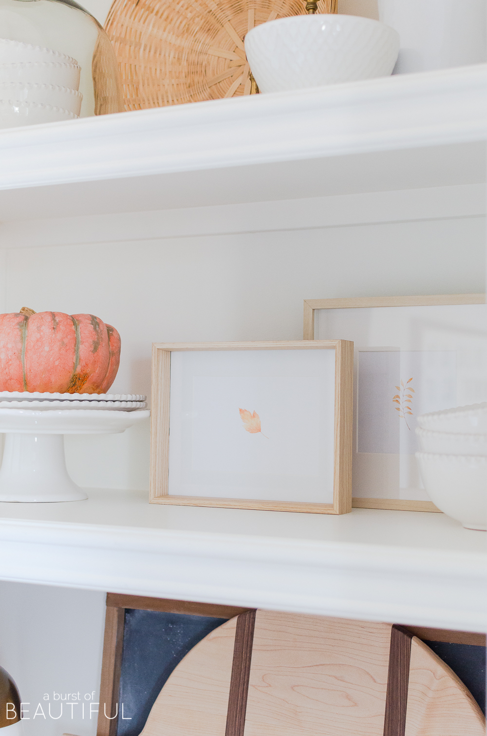 Add a touch of fall to your home with a simple watercolor fall leaf printable.