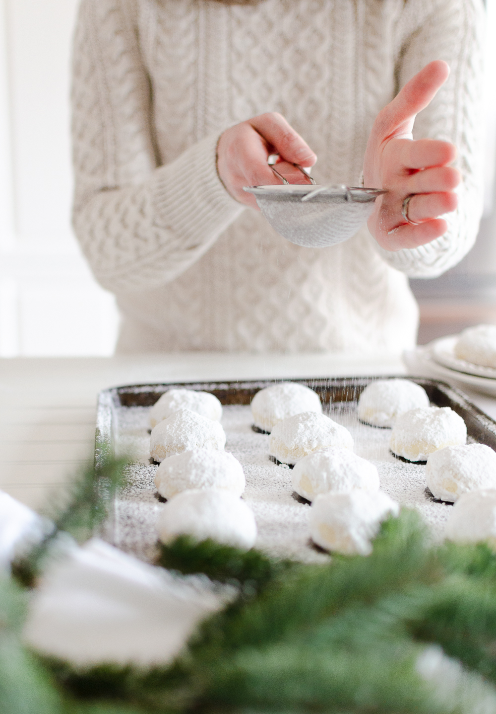 These melt-in-your-mouth shortbread cookiessprinkled in icing sugar are sure to become a Christmas favorite. Find the recipe for this holiday classic along with 18 other delicious Christmas cookies.