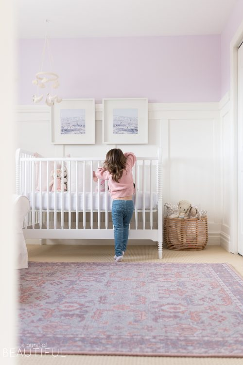 A Sweet and Colorful Baby Girl Nursery | Reveal