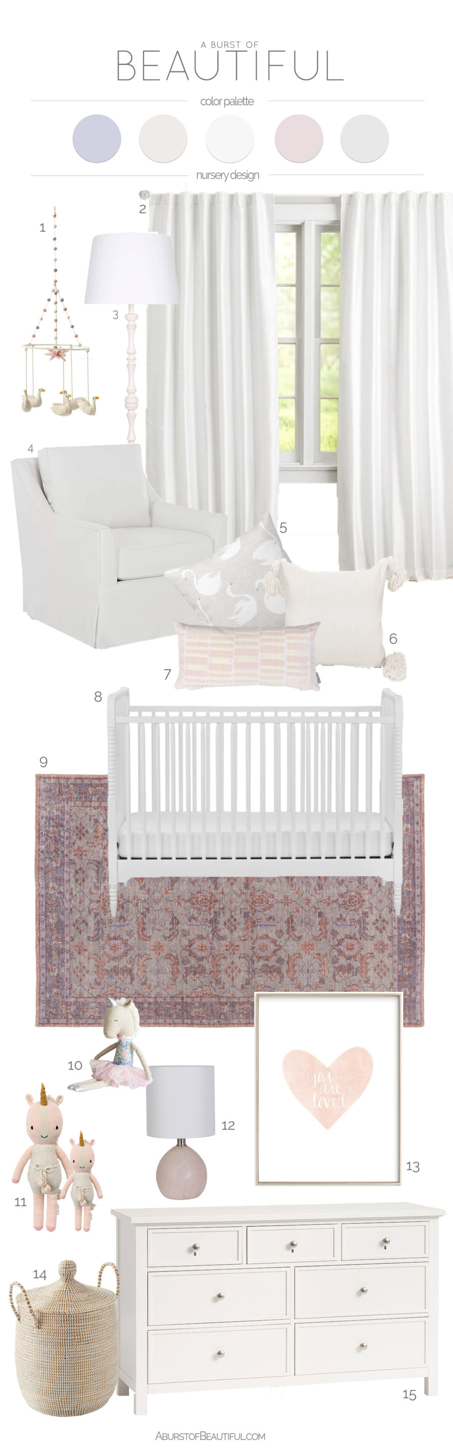 Add color and personality to a gender-neutral nursery once your little one arrives with these simple design changes