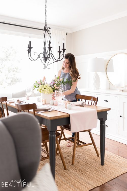 Set a Simple Easter Table in Soft Shades of Pastels