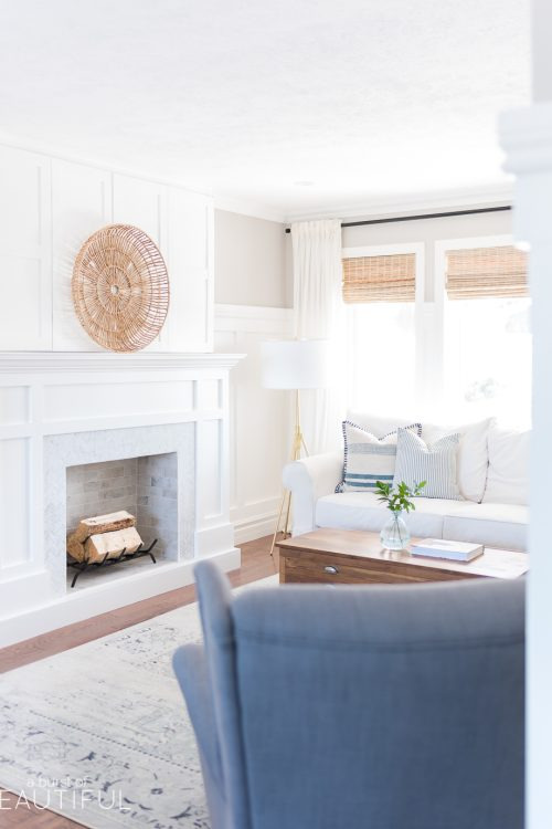 Classic Craftsman Style Fireplace with Hidden TV | Free Plans