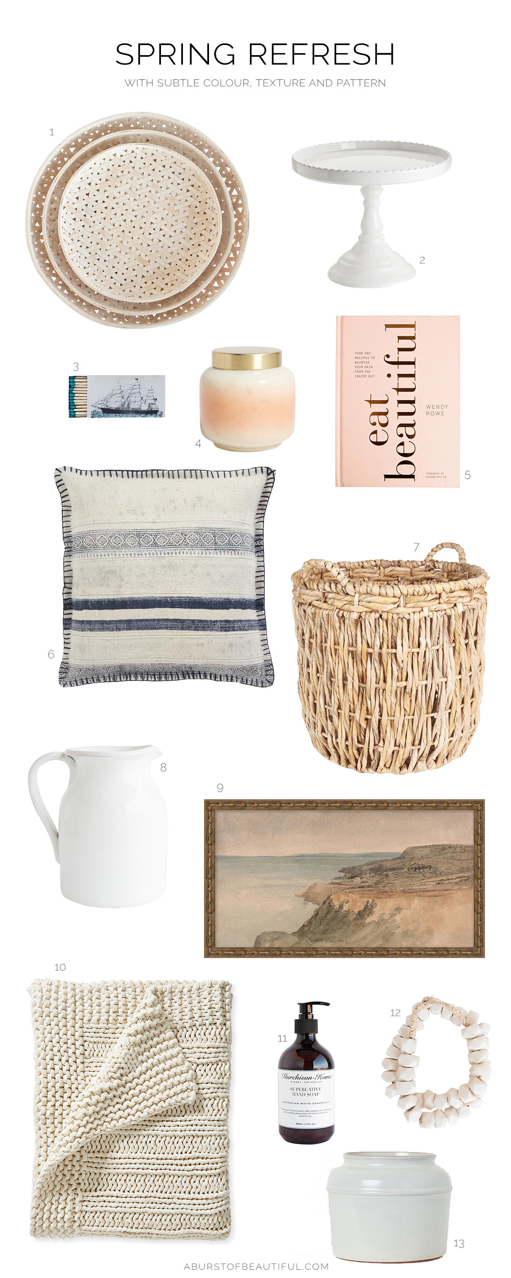 Breathe new life into your home for spring by incorporating pieces with colour, pattern, and texture.
