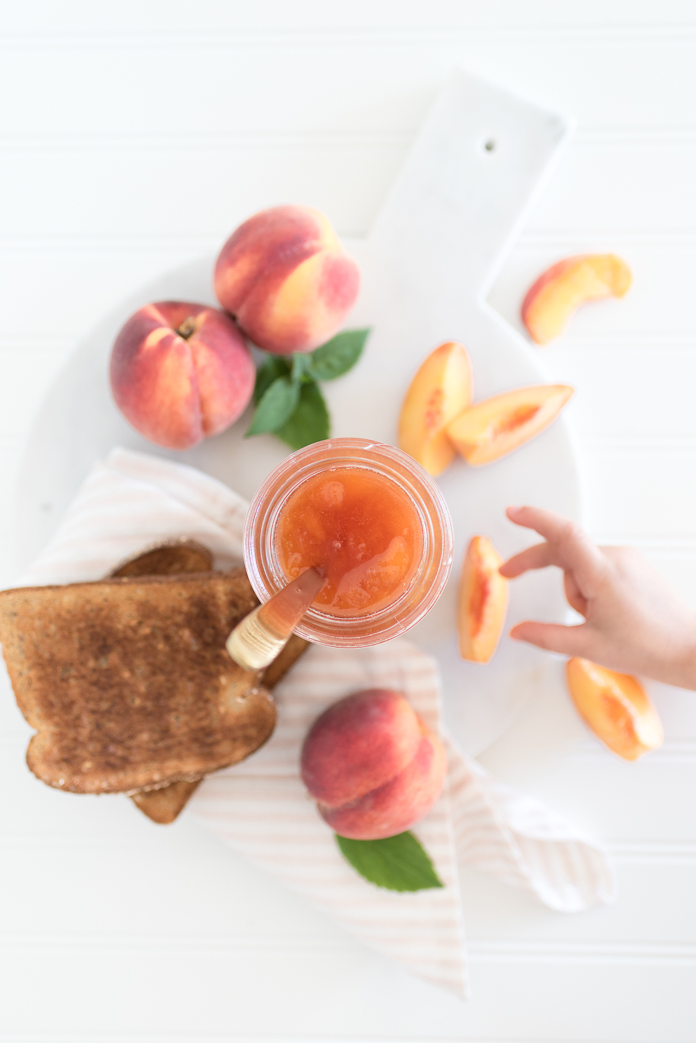 This small-batch peach jam recipe with a hint of spice is easy since it doesn't involve the traditional canning process.