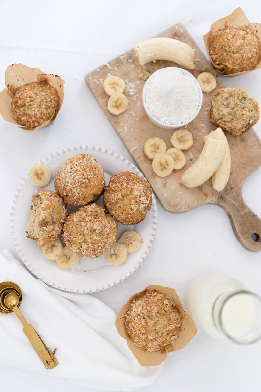 This simple banana coconut muffin recipe is perfect for breakfast on busy mornings or makes a delicious afternoon snack.