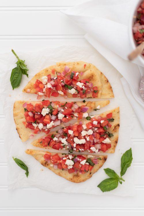 Tomato & Feta Bruschetta Flatbread