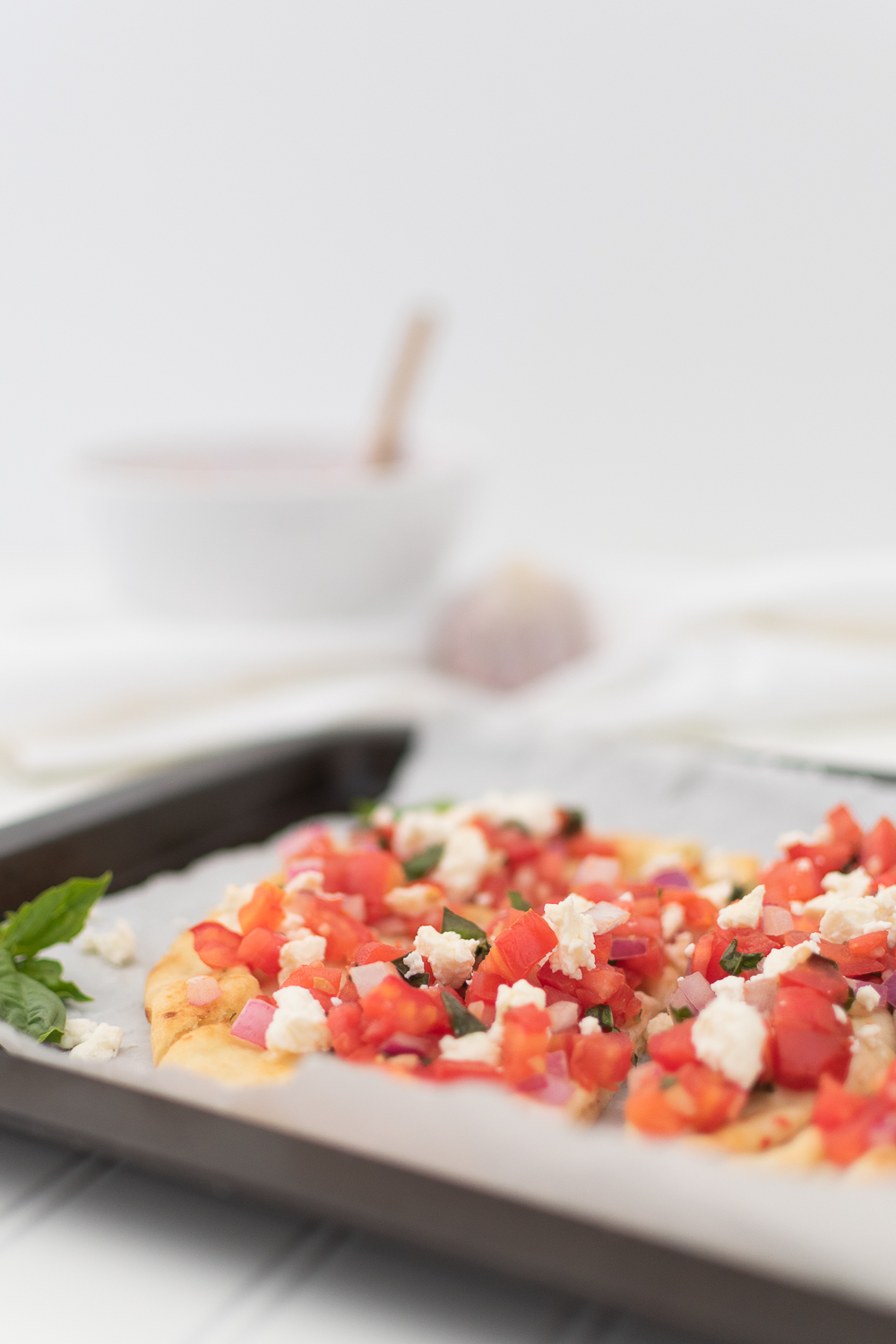 Simple and Fresh Bruschetta Flatbread