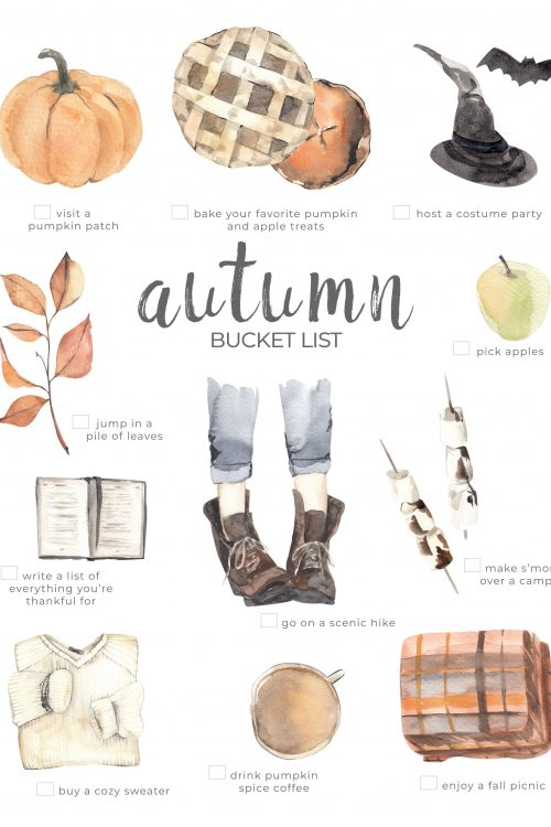 10 Activities To Do This Autumn & Fall Bucket List Printable