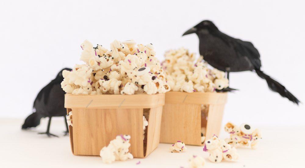 White Chocolate Halloween Monster Popcorn