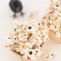 White Chocolate Halloween Monster Popcorn