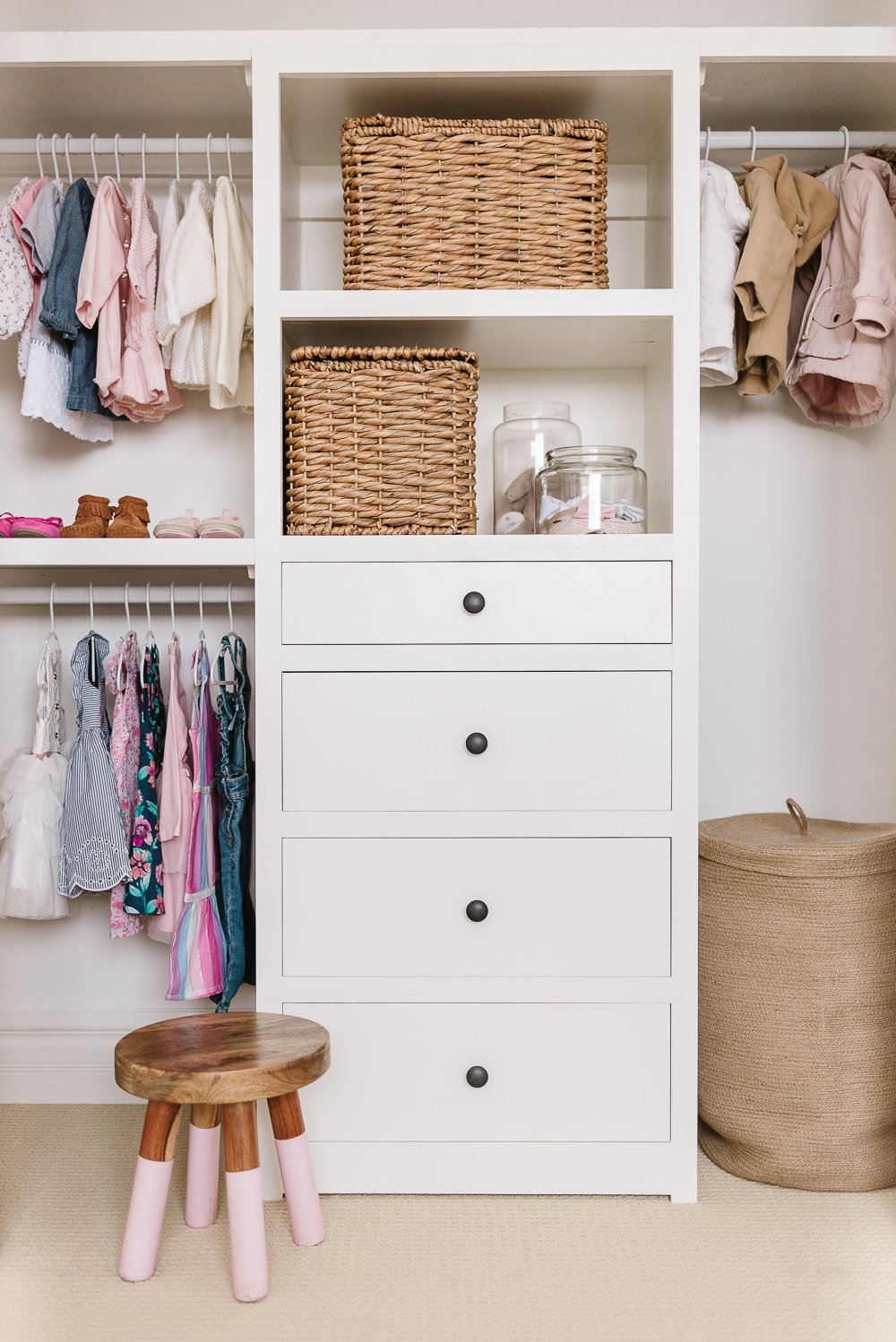 Closet organization system plans free with drawers and shelves