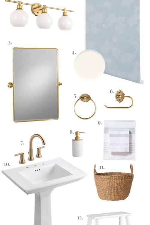 Traditional and Feminine Bathroom Design
