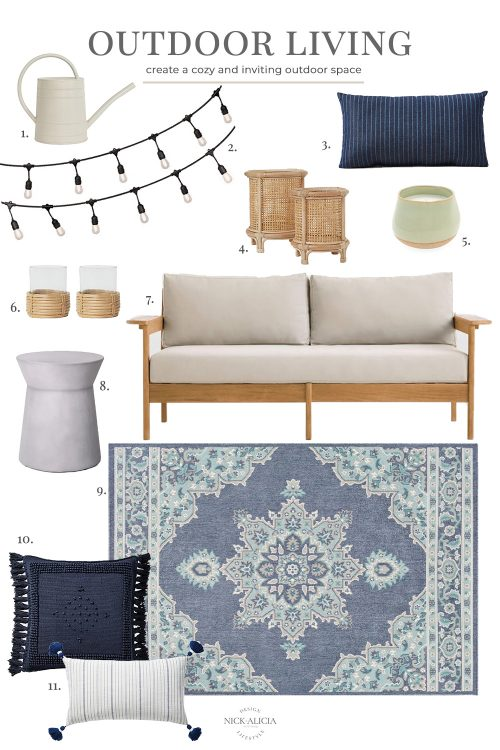 Coastal-Inspired Outdoor Living Space | Design Board