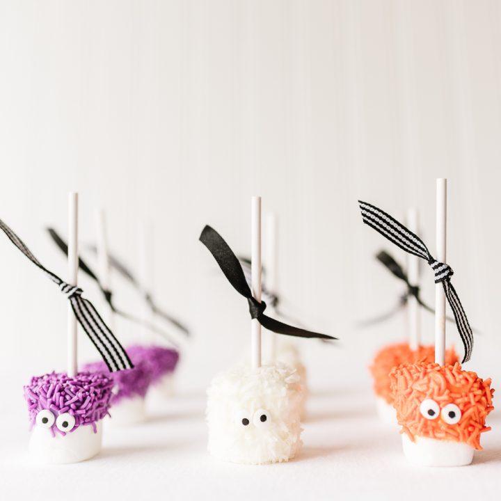 Halloween Monster Marshmallow Pops